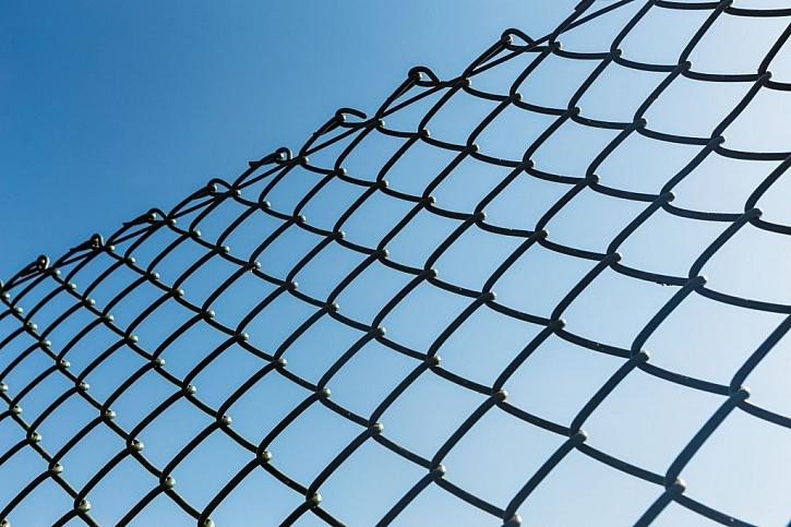 Pletivo na plotě může být i poplastované, zvyšuje se tím jeho životnost
