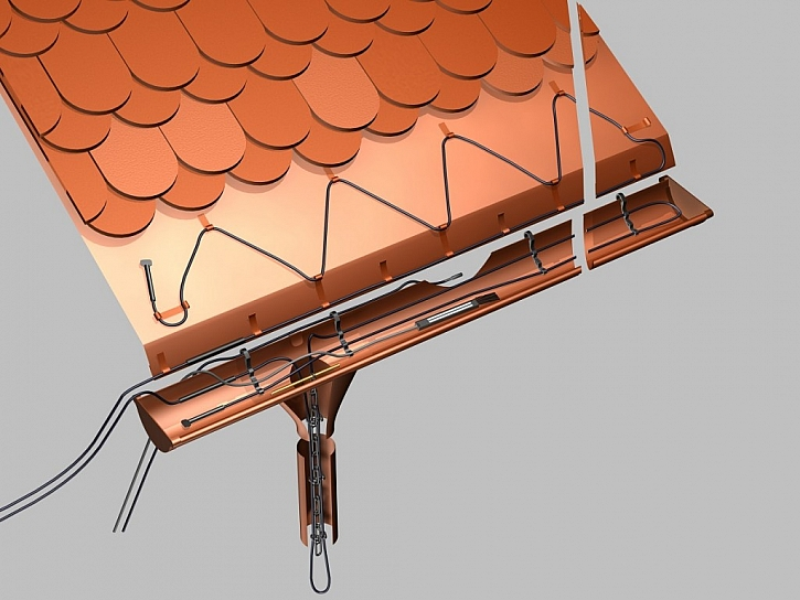 Proti mrazu můžete chránit chodníky, okapy nebo kovové i plastové potrubí s topnými kabely