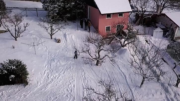 Zasněžená zahrada