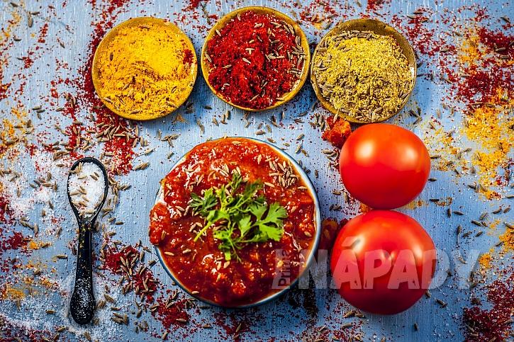 Indické čatní s kořením