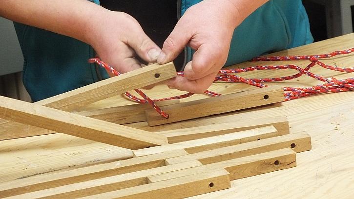 Dřevěná houpací síť: vytvoříme lehací část sítě