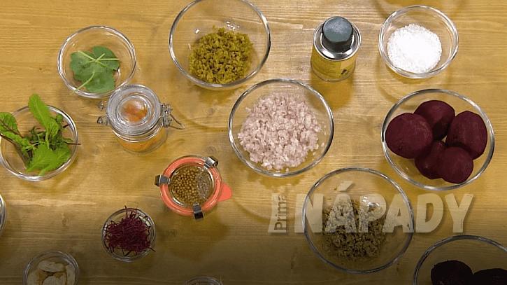 Suroviny připravené na tataráček