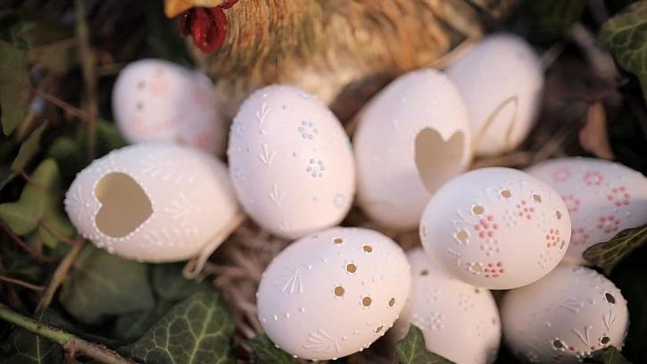 Malování vajíček tradiční metodou