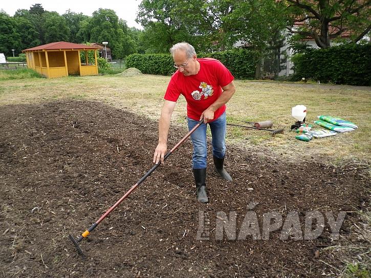 1. priprava  pudy pro  zalozeni travniku