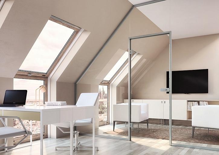 Skleněné stěny jsou vhodné i do atypických prostor