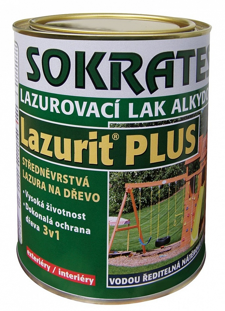 Středněvrstvá lazura Lazurit PLUS poskytne dřevu ochranu až na 7-10 let