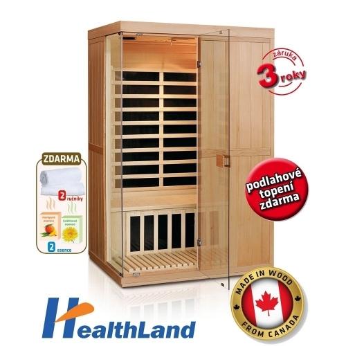 HEALTHLAND Infrasauna DeLuxe 2200 Carbon