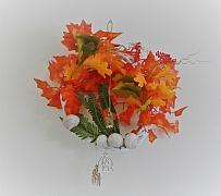 Dekorace na dveře a na stěnu - věnec v barvách podzimu