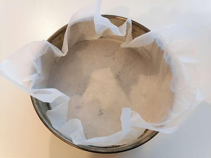 Forma s pečicím papírem