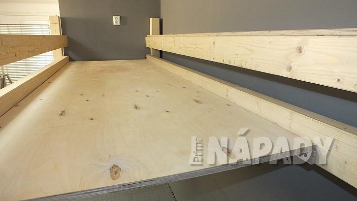 Výroba zvýšeného patra: upravíme ložnou plochu