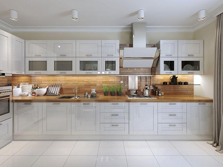 Celkově bílá kuchyně je neustálým trendem