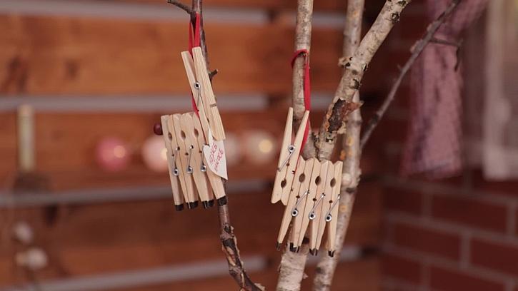 Zvířátko na stromek z kolíčků