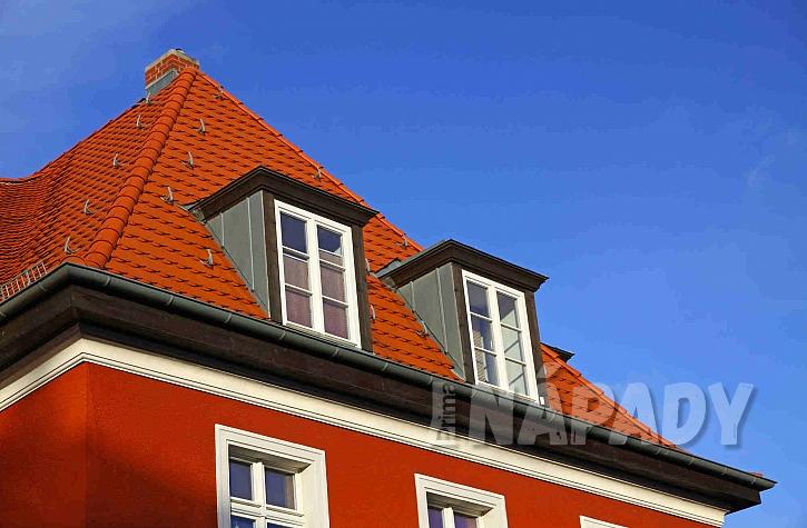 Barva střechy stejná s fasádou
