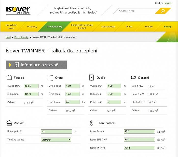 Spočítejte si rozdíl v zateplení! Vyzkoušejte kalkulační program Isover Twinner