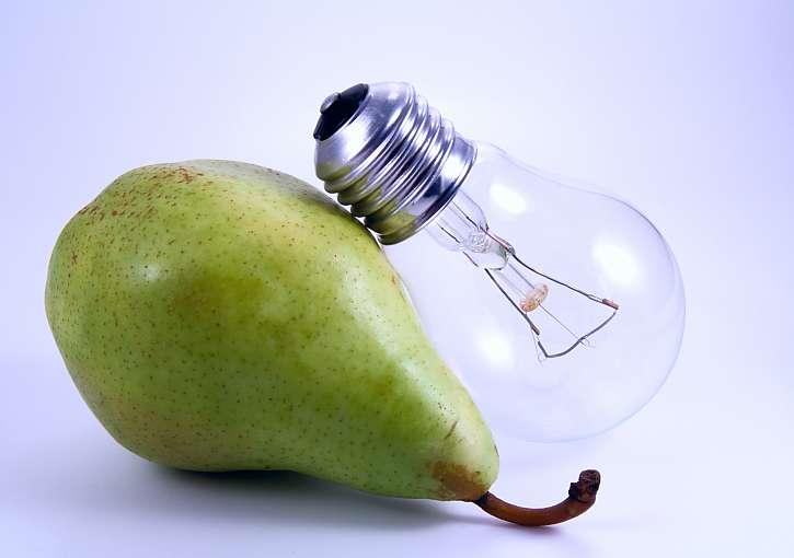 Žárovka má tvar hrušky, tak ji z ní vyrobte