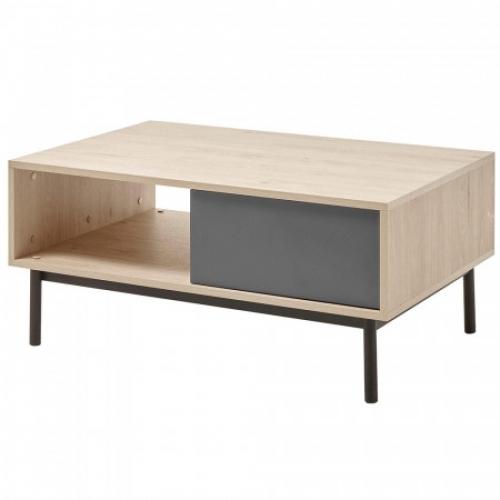 Konferenční stolek, dub jaskson hickory/grafit, BERGEN BL104, Tempo Kondela