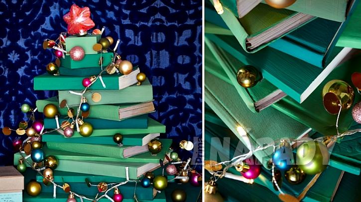 Vánoční stromeček pro knihomily: nakonec ho ozdobte řetězem