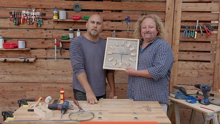 Návod na výrobu dřevěných hodin z domina (Zdroj: Hodiny z domina)