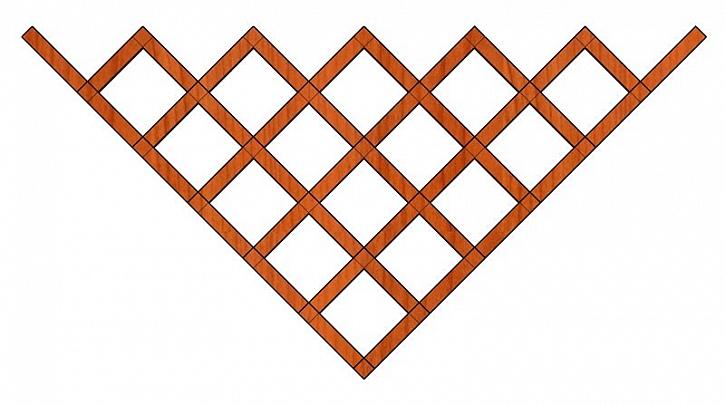 Jednoduché mřížky na zeď