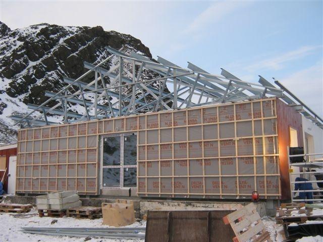 Systém šikmých střech Lindab Roof v Grónsku