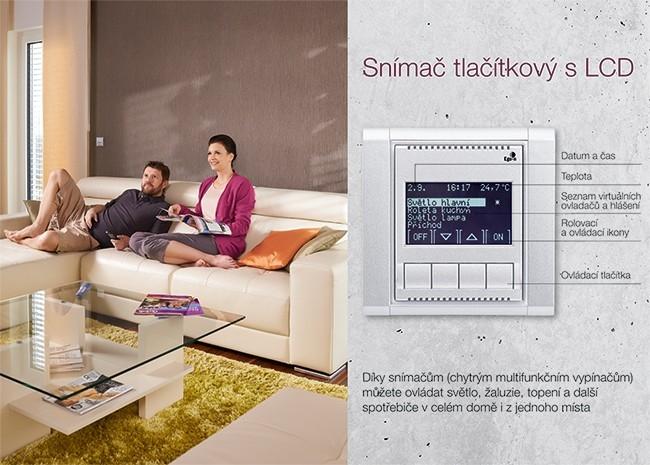 Ego-n - chytrý vypínač - tlačítkový snímač s LCD