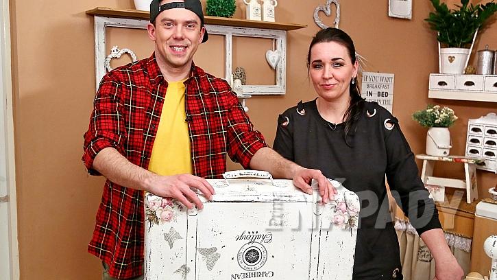 Paní Věra Horáková z Kroměříže prozradila Láďovi Hruškovi, jak si ze starých věcí udělat designové vintage doplňky do bytu.