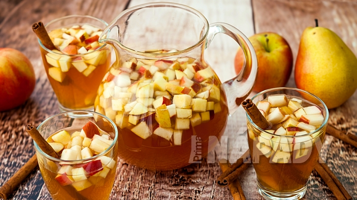 Recept na přírodní jablečno-hruškovou šťávu