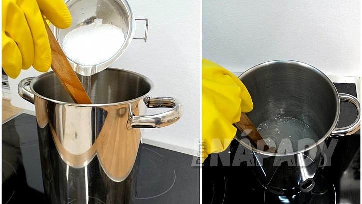 Recept na domácí bylinkové mýdlo: nejprvesi připravte roztok destilované vodya louhu