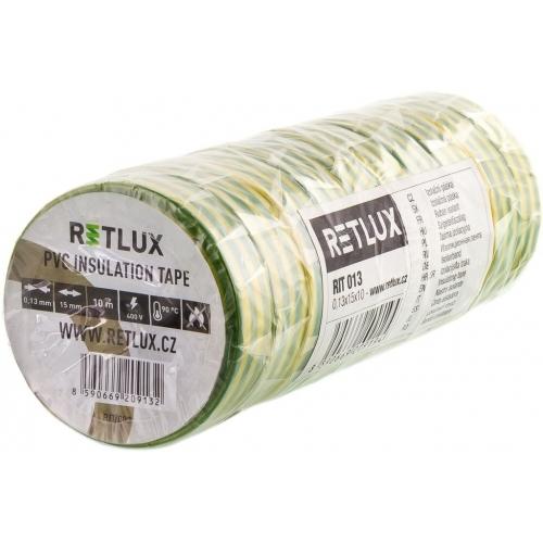 RETLUX RIT 012 izolační páska 10ks 0,13x15x10, zelenožlutá