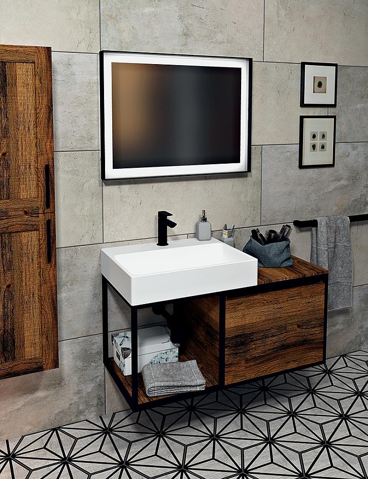 Moderní koupelna v designu Black od Sapha (Zdroj: Sapho)