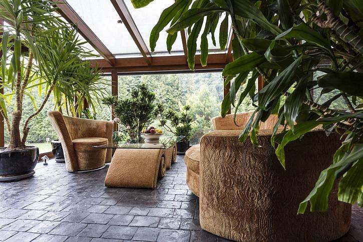 Zateplená terasa může mít v zimě formu zimní zahrady