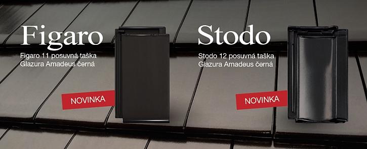 Novinky TONDACH 2016 – tašky Stodo 12 a Figaro 11 nově s černou glazurou Amadeus