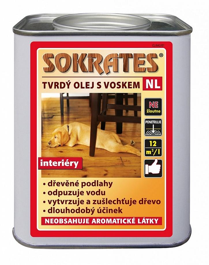 Tvrdý olej na dřevo s přídavkem vosku SOKRATES pro použití v interiéru
