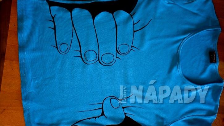 Hubnoucí tričko: barvu zafixujte