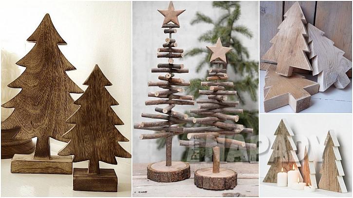 Vánoce ve stylu natur: mini stromečky