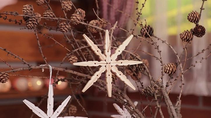 Jak vyrobit hvězdu z kolíčků