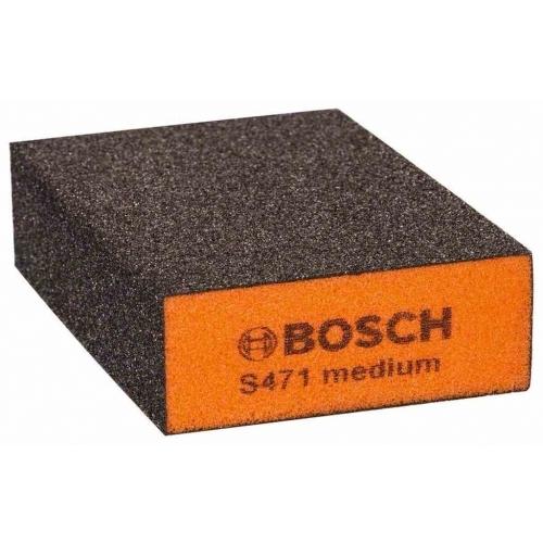 BOSCH Best for Flat and Edge Brusná houba, 68 x 97 x 27 mm, střední