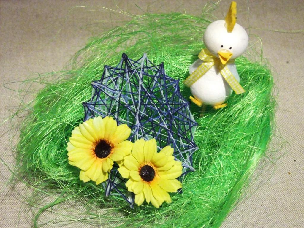 Velikonoční dekorace z nití