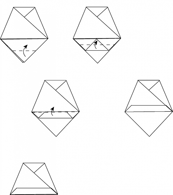 Vánoční zvonky – technika origami