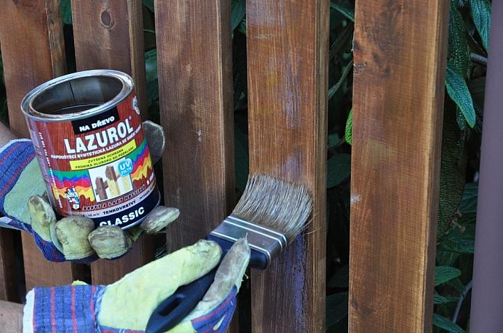 Nový dřevěný plot s LAZUROL CLASSIC