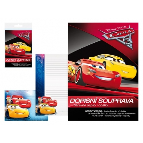 MFP dopisní papír barevný LUX 5+10 Disney (Cars)