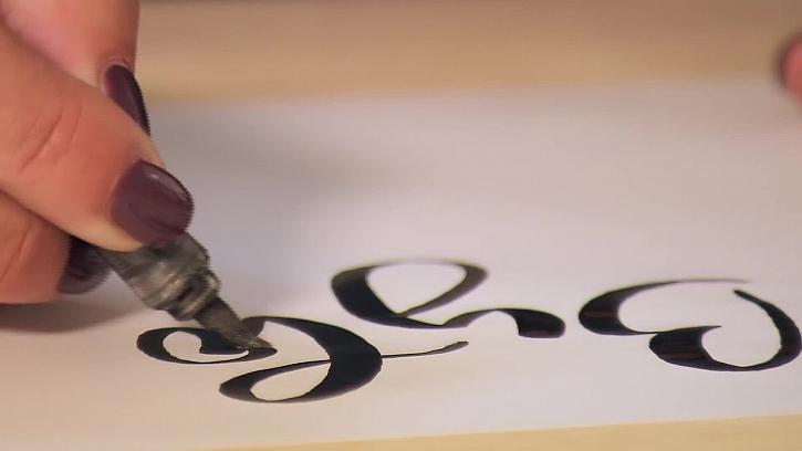 Psaní krasopisným písmem