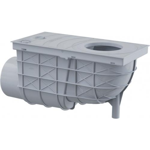 ALCAPLAST Univerzální lapač střešních splavenin 300 × 155/110 boční šedý