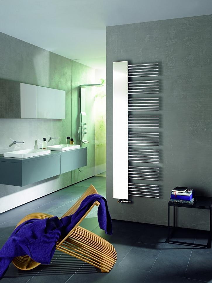 Asymetrické koupelnové radiátory pro obzvláště snadné sušení ručníků