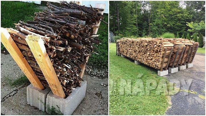 Dřevo do kamen: využijte betonové tvárnice