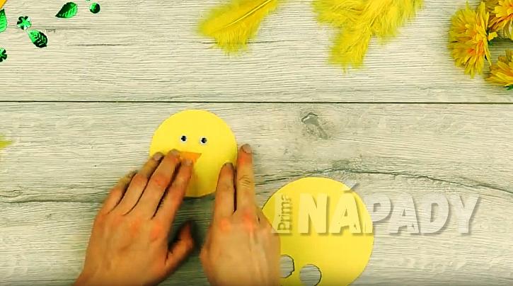 Velikonoční kuřátko: Prstový maňásek pro děti 3