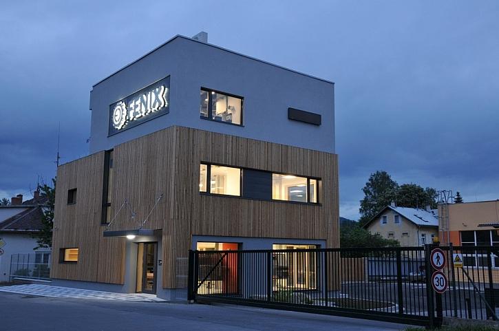 Nové kancelářské centrum FENIX v Jeseníku, postavené jako objekt s téměř nulovou spotřebou energie