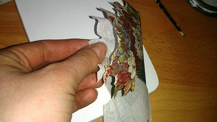 Výroba prkénka na vzkazy pomocí techniky dekupáž