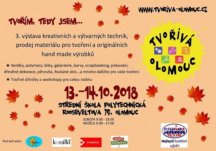 """Výstava Tvořivá Olomouc – """"Tvořím, tedy jsem…"""""""