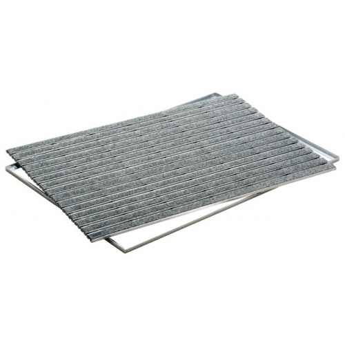 ACO Vario Indoor, interiérová rohožka, 75 x 50 cm, AL profil , výplň plsť - šedá